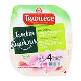 Jambon supérieur Tradilège Viande de Porc Français x4 140g