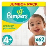 Couches Premium protect Pampers T4 + Jumbo - x62