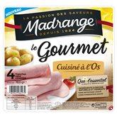 Jambon le gourmet Madrange A l'os - x4 - 160g