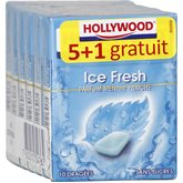 Chewing-gum menthe fraîche s/sucres Hollywood