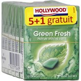 Chewing-gum menthe verte s/sucres Hollywood