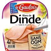 Blanc de dinde Le Gaulois Sans OGM - x4 tranches - 160g