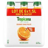 Jus d'orange Tropicana Sans pulpe - 6x1.5L