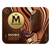Magnum Bâtonnets glace Magnum Double choc noisettes x4 -292g