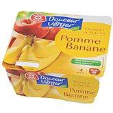 Dessert fruitier pomme banane