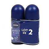 Nivea Anti-transpirant 48h Protect & Care les 2 roll-on de 50 ml